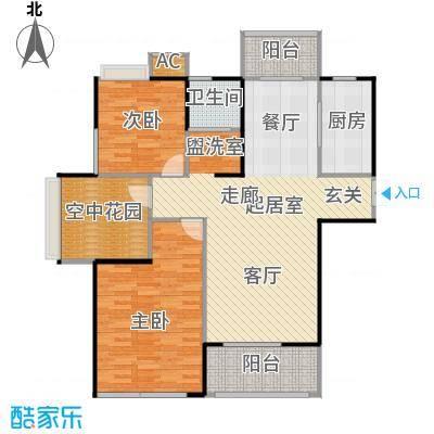 景尚名郡103.06㎡103.06平米三室两厅一卫户型3室2厅1卫
