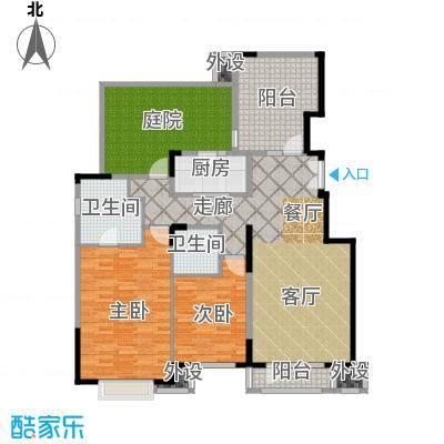 亿城叠山院125.00㎡3室2厅2卫1厨户型3室2厅2卫