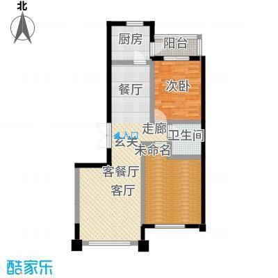 建荣皇家海岸91.00㎡二室二厅一卫户型