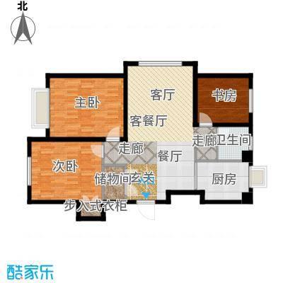 中国城建伦敦公元中国城建伦敦公元G6户型图3室2厅1卫-96.00㎡户型3室2厅1卫