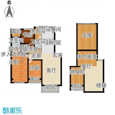 锦绣澜湾188.00㎡B户型三室二厅二卫户型3室2厅2卫