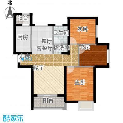 郑西鑫苑名家户型3室1厅1卫1厨