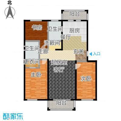 环龙湾户型3室2卫