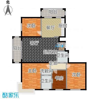 环龙湾户型4室2卫