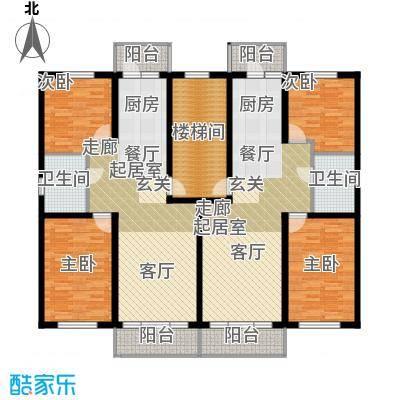 联通名苑92.98㎡P单元平面图户型2室1厅1卫