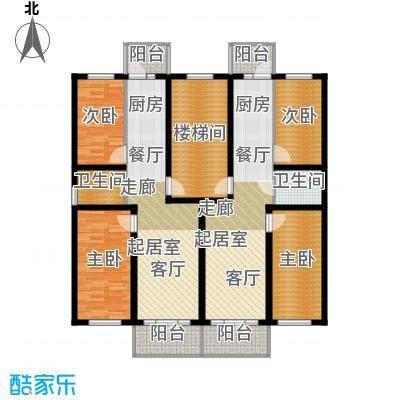 联通名苑73.35㎡N单元平面图户型2室1厅1卫