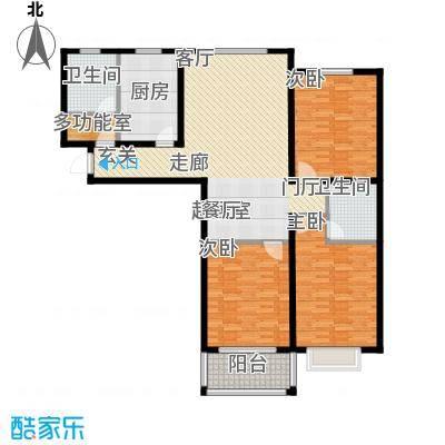 水运雅居户型3室2卫1厨