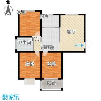 水运雅居户型3室1卫1厨