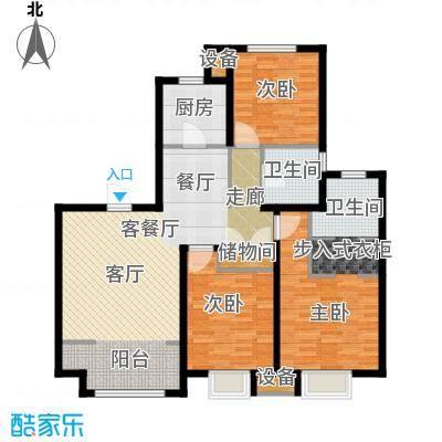 复地湖滨广场户型3室1厅1卫1厨