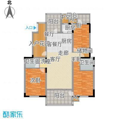 金地芙蓉世家二期168.47㎡三房户型