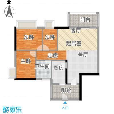 珠江嘉园90.00㎡11栋B梯0户型3室1卫1厨
