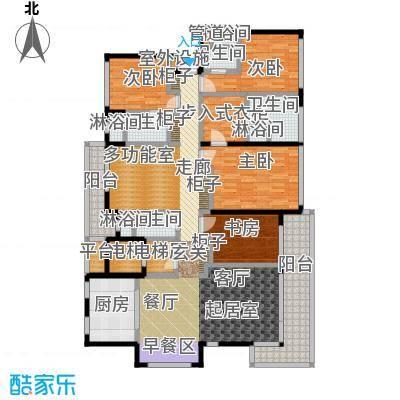 万科公园5号171.00㎡12、13、16、17号楼洋房户型5室2厅4卫