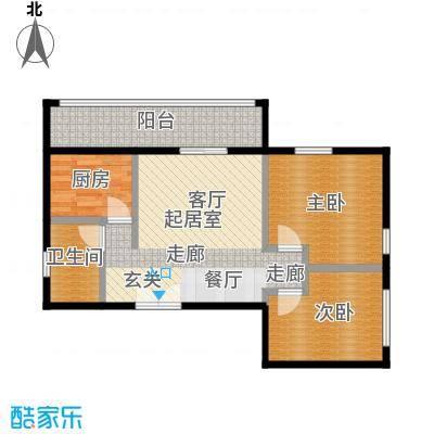 乐府国际公寓91.79㎡E2户型2室2厅1卫