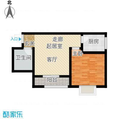 曲江新苑项目E户型54.90平米户型