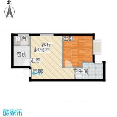 曲江新苑项目F户型55.32平米户型