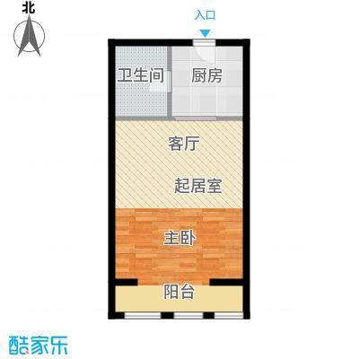 新城国际50.00㎡一室一厅一厨一卫 50平米户型1室1厅1卫