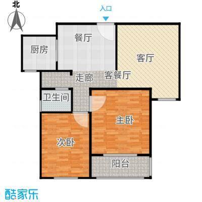 菏泽锦绣中华户型2室1厅1卫1厨