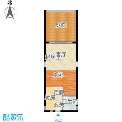 碧桂园如山湖城75.00㎡公寓605户型1卫