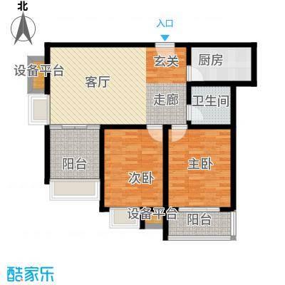 先河国际社区105.00㎡2室1厅1卫户型2室1厅1卫