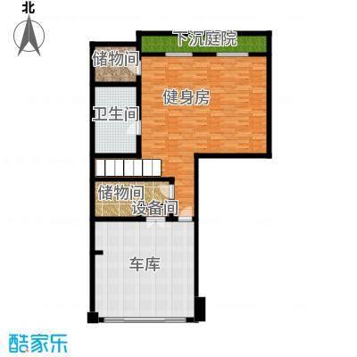 曲江公馆和园124.56㎡项目别墅C负一层户型10室