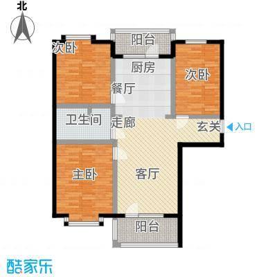 世界温泉部落108.29㎡三室二厅一卫户型
