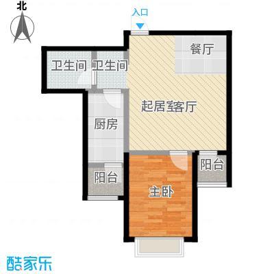 七里香格庄园69.96㎡高层L户型1室2厅1卫