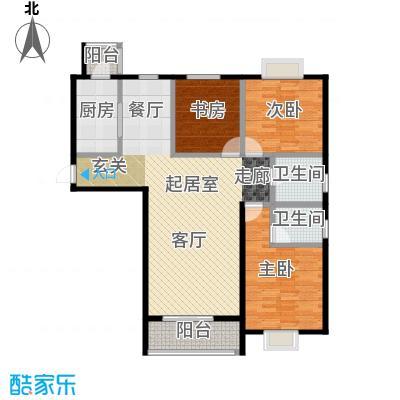 七里香格庄园133.89㎡高层C户型3室2厅2卫