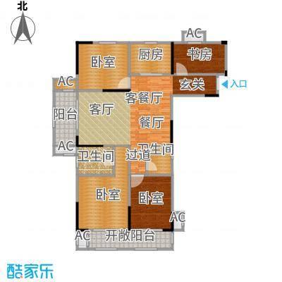 竹山华庭124.00㎡C2户型4室2厅2卫