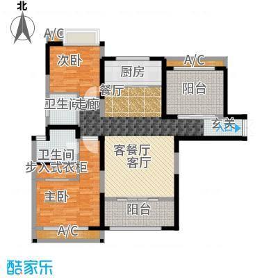 香榭一品116.04㎡2号楼C2户型3室2厅1卫X