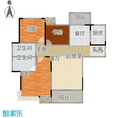 香颂小镇115.00㎡H1户型3室2厅2卫