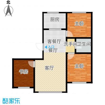 金鼎凤凰城94.38㎡B2户型3室2厅1卫1厨 94.38㎡户型3室2厅1卫