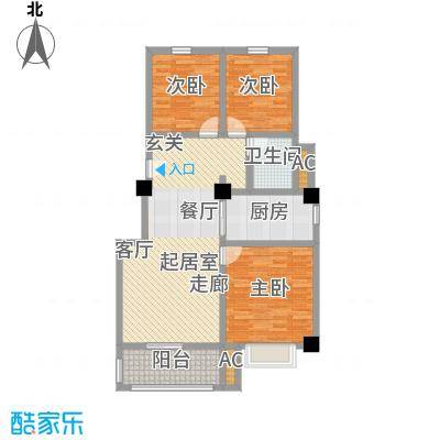 金地・中央美域ABC1户型3室2厅1卫-T