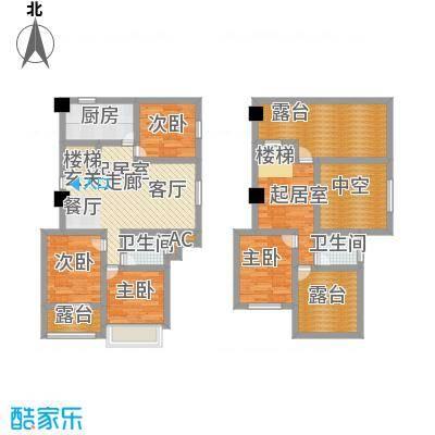 金地・中央美域181.00㎡C2户型(跃层)户型4室2厅-T