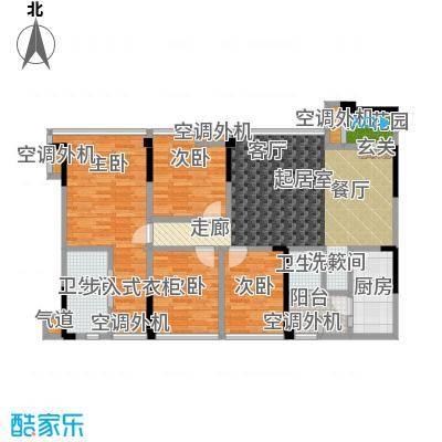 保利锦湖林语116.00㎡保利锦湖林语B2户型4室2厅2卫