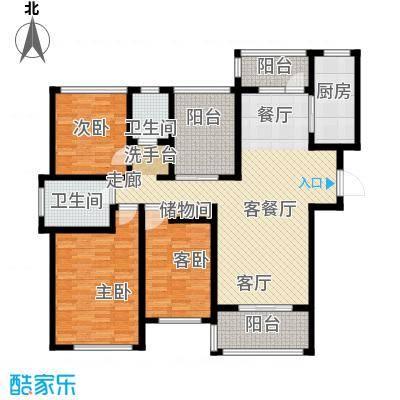 金域华府户型3室1厅2卫1厨