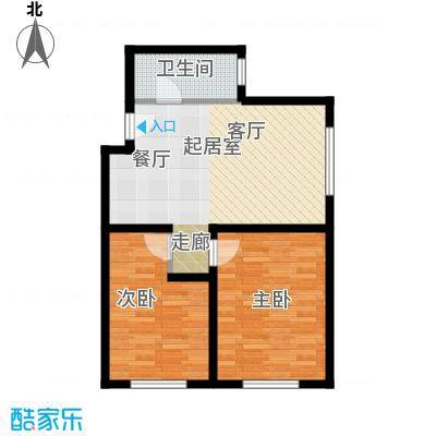 海泰软件园SOHO户型2室1卫