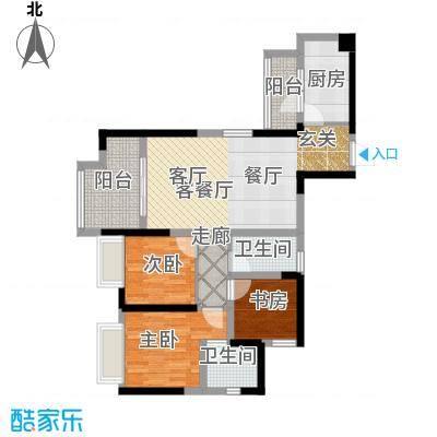 中铁城锦南汇89.00㎡C2户型3室2厅2卫