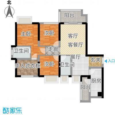 中铁城锦南汇105.00㎡B户型3室2厅2卫