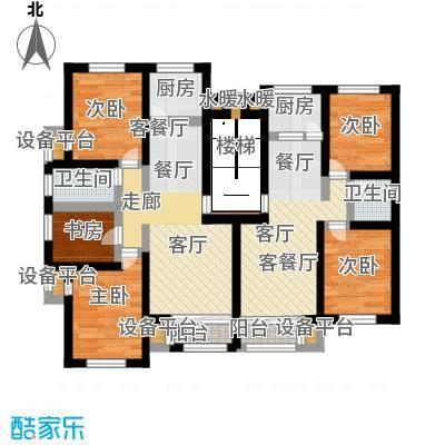 银亿格兰郡83.20㎡多层D1 D2户型平面图 二室二厅一卫户型2室2厅1卫