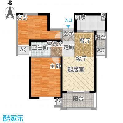 东方米兰国际城东方米兰国际城 88.93平米 两室两厅一卫户型2室2厅1卫