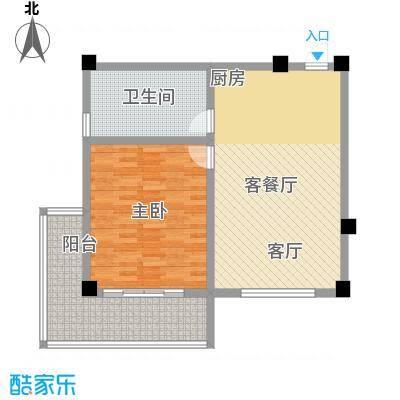 徽州庄园82.47㎡B2户型图 82.47平米户型1室1厅1卫