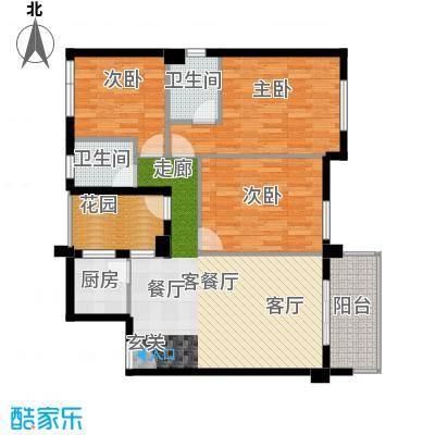 东都国际X户型3室1厅2卫1厨