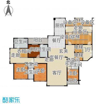 泰成壹号公馆户型4室1厅6卫1厨