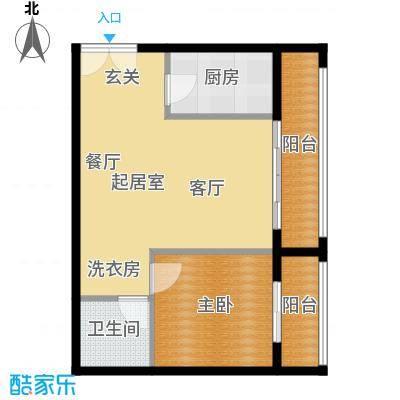 乐府国际公寓69.07㎡C2户型1室1厅1卫