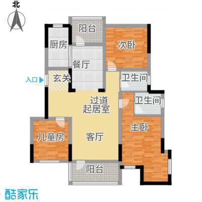 金地滟澜山112.57㎡100#户型3室2厅2卫