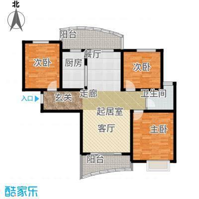 MOMOPARK118.34㎡2#D1户型3室2厅1卫