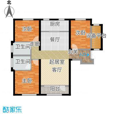 中国塘136.00㎡D1户型3室2厅2卫