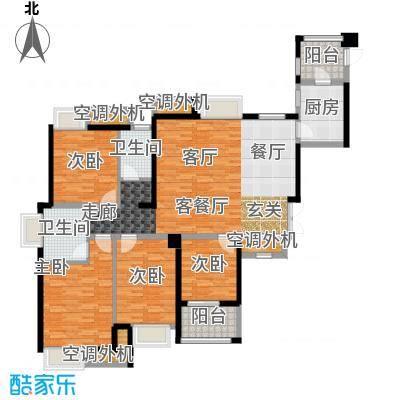 阳光城丽兹公馆户型4室1厅2卫1厨