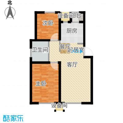 青果青城高层两室户型2室2厅1卫