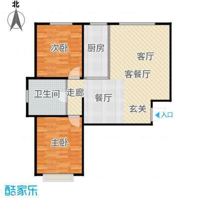 新华名座E座住宅户型2室1厅1卫1厨